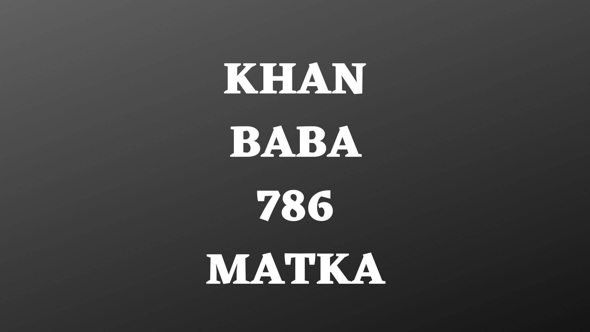 khan-baba-786-matka